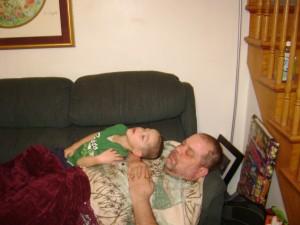 Dad & Justin Nap