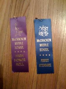 Aaron's Scholastic Awards